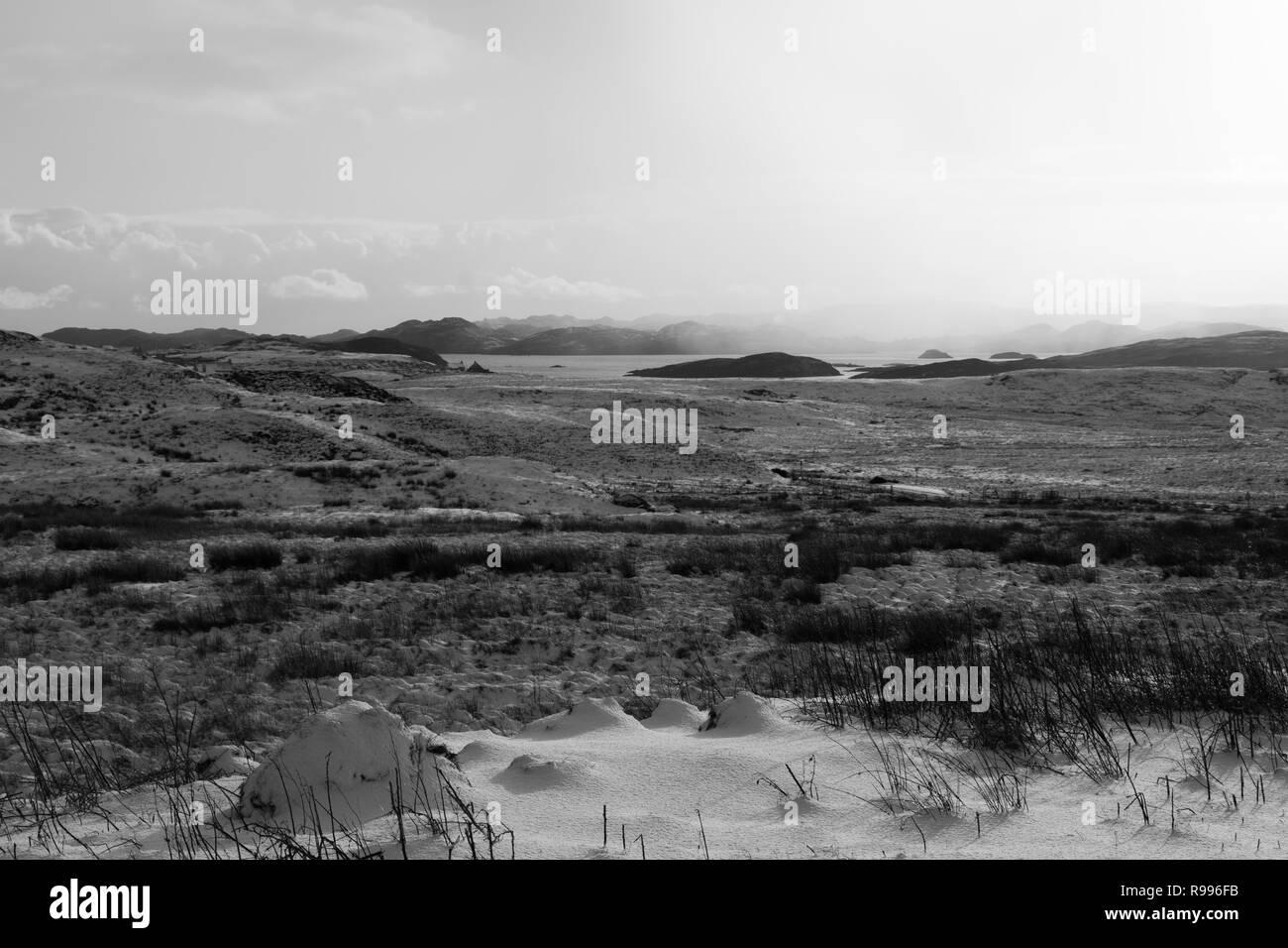 Landscape of Isle of Lewis, Outer Hebrides, Scotland, UK - Stock Image