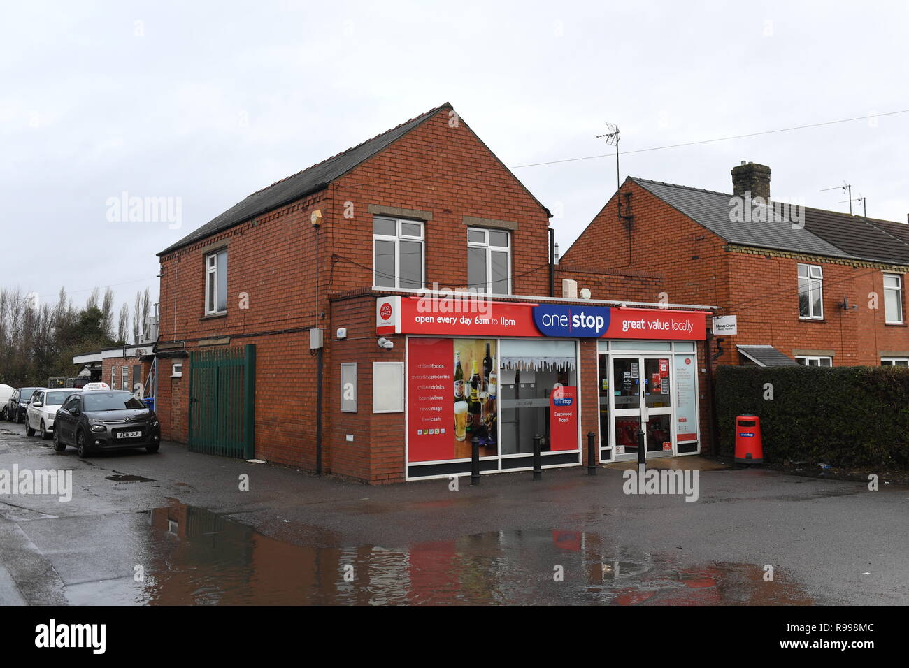 Eastwood Road Post Office in Boston, Lincolnshire, where Andrew Clark, who won £76 million on the EuroMillions lottery, bought his winning ticket. - Stock Image