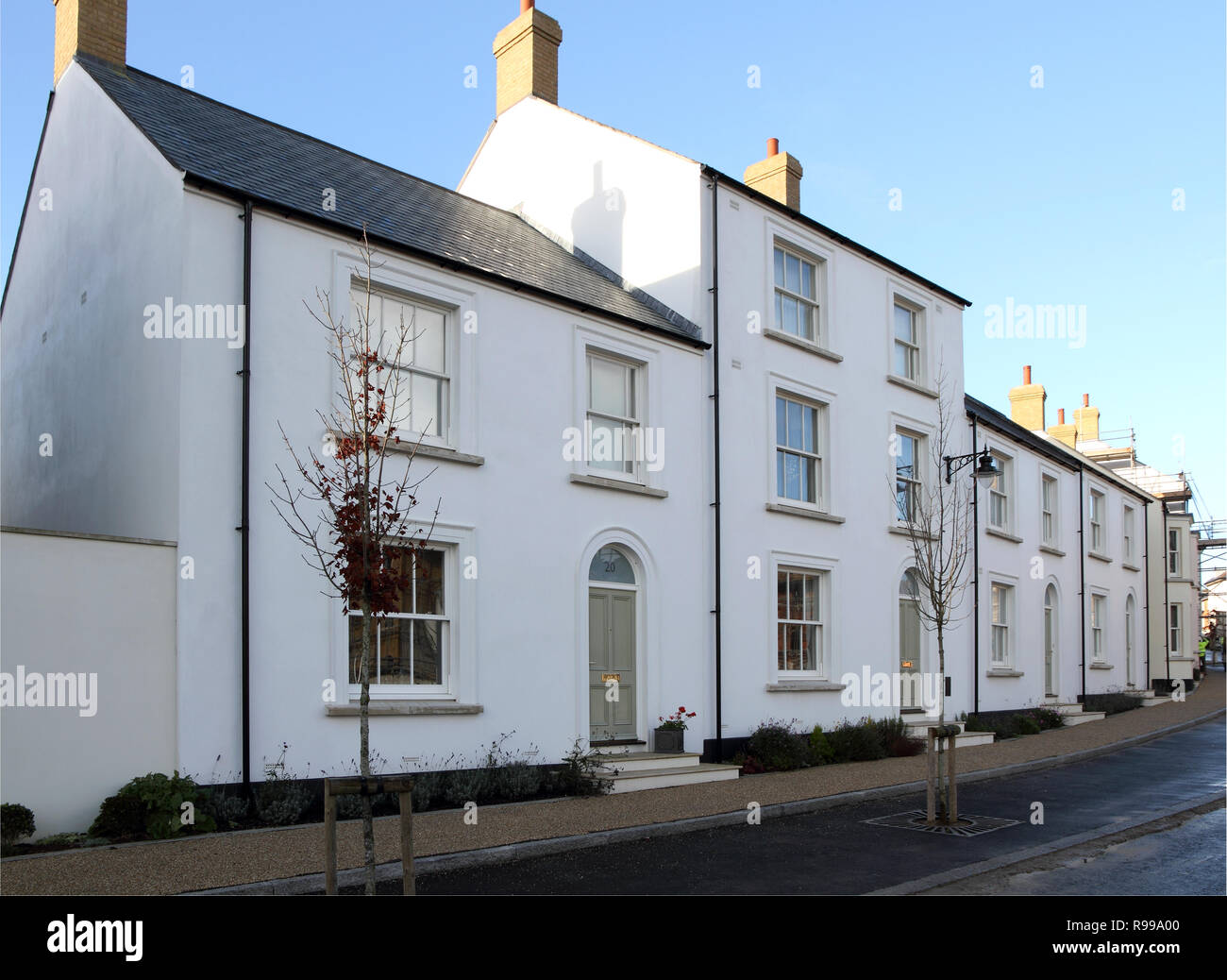 Poundbury, Dorset, England, an experimental New Town favoured by Prince Charles - Stock Image