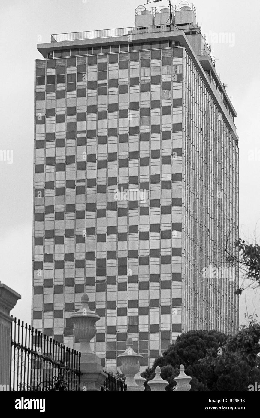 MONTERREY, NL/MEXICO - NOV 10, 2003: View of the Condominio Acero, at the Macroplaza Stock Photo