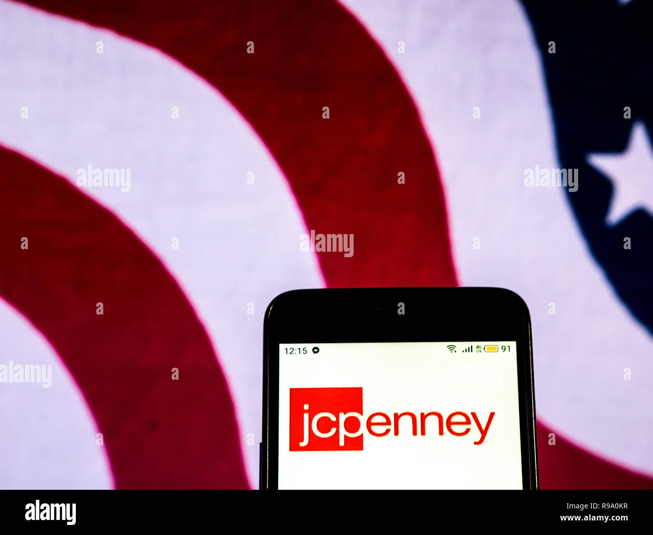 J C Penney Department Store Company Logo Seen Displayed On