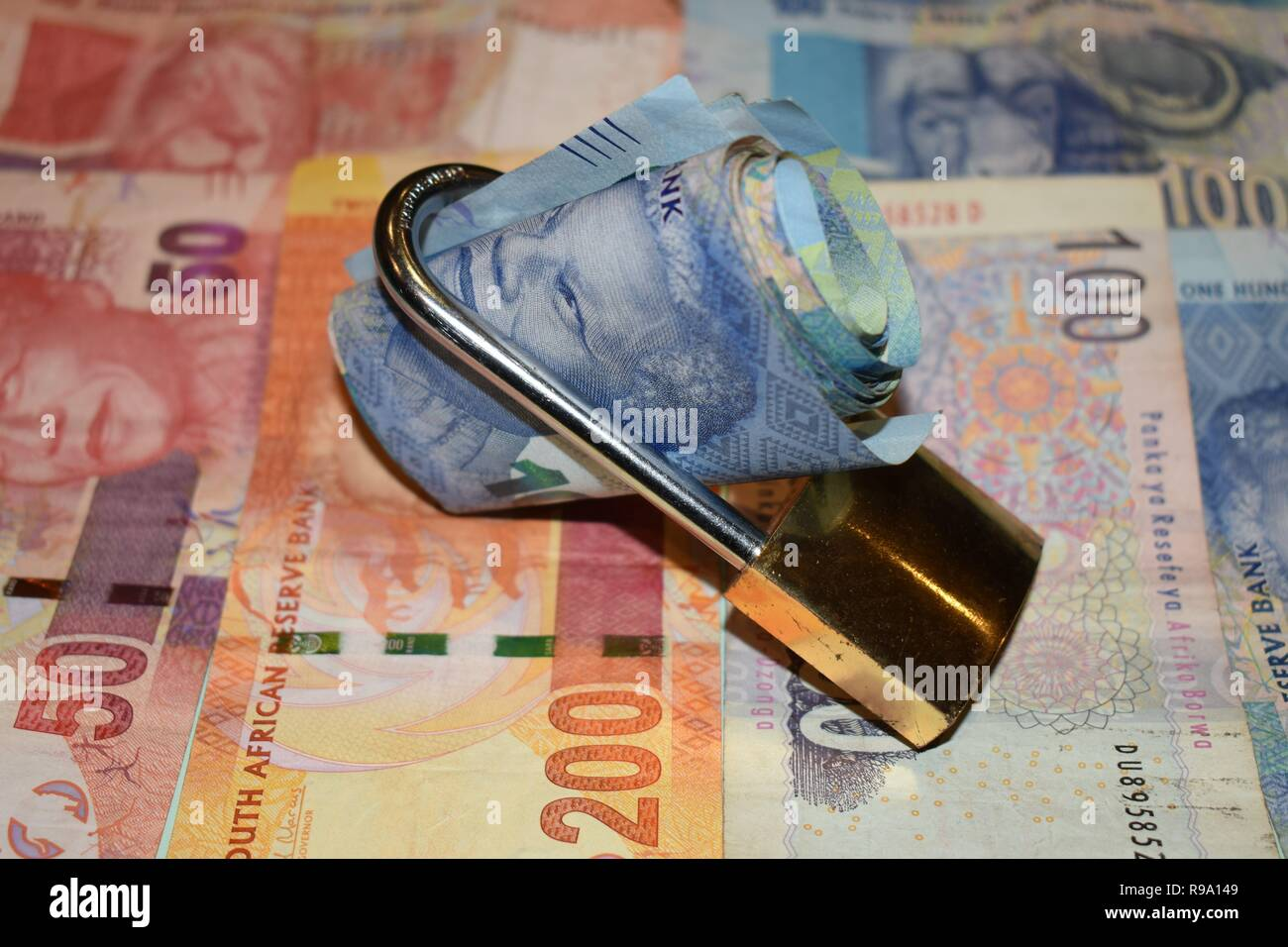 Secure South Africa currency - Stock Image