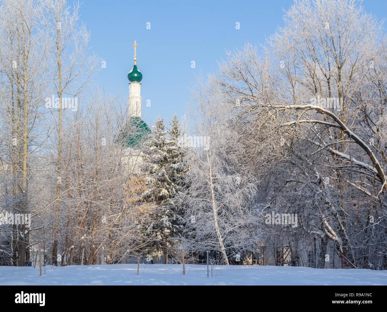 Peter and Paul Church in Kulibin Park in Nizhny Novgorod, Russia - Stock Image