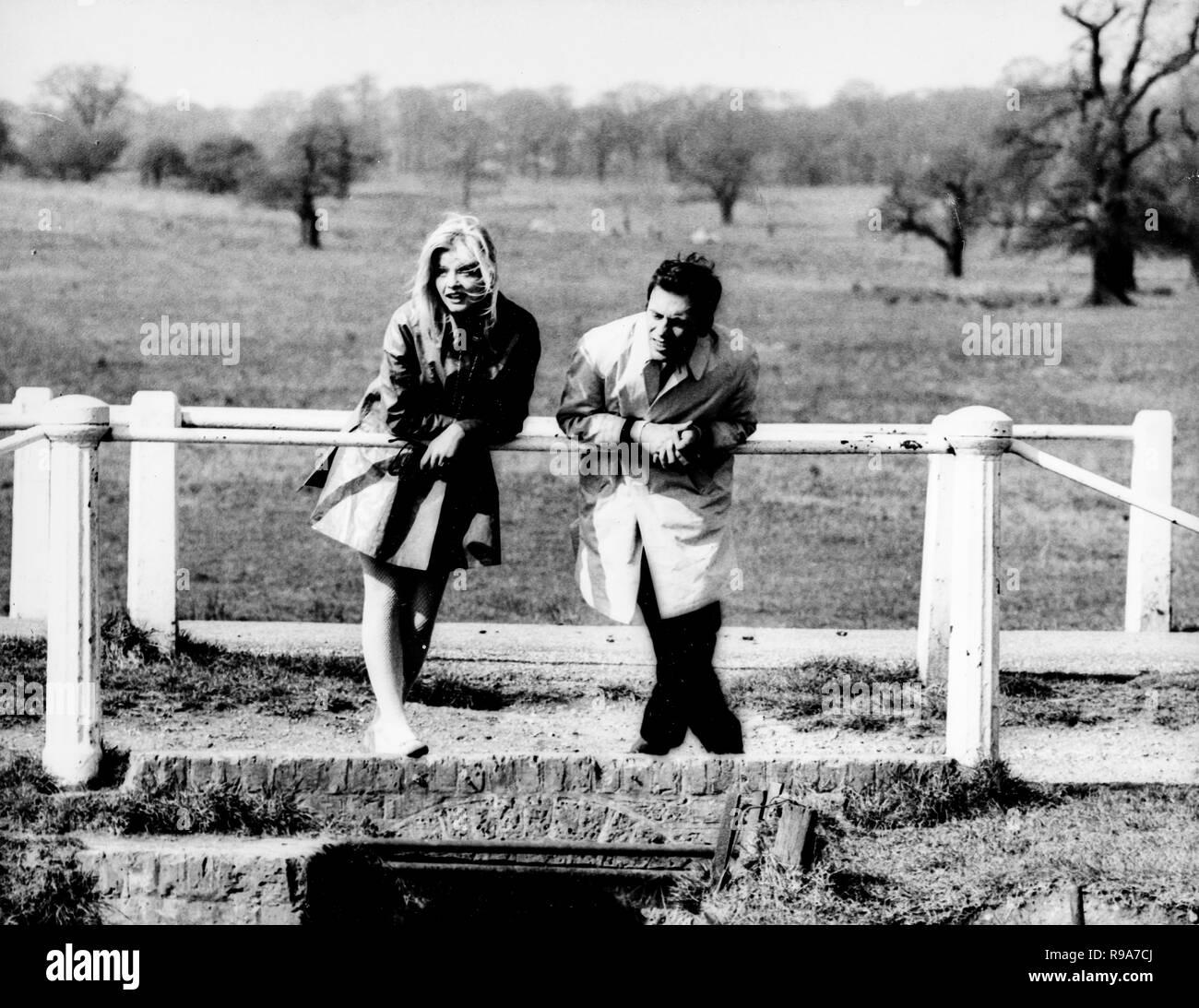 ewa aulin, jean-louis trintignant, with heart in mouth, 1967 Stock Photo