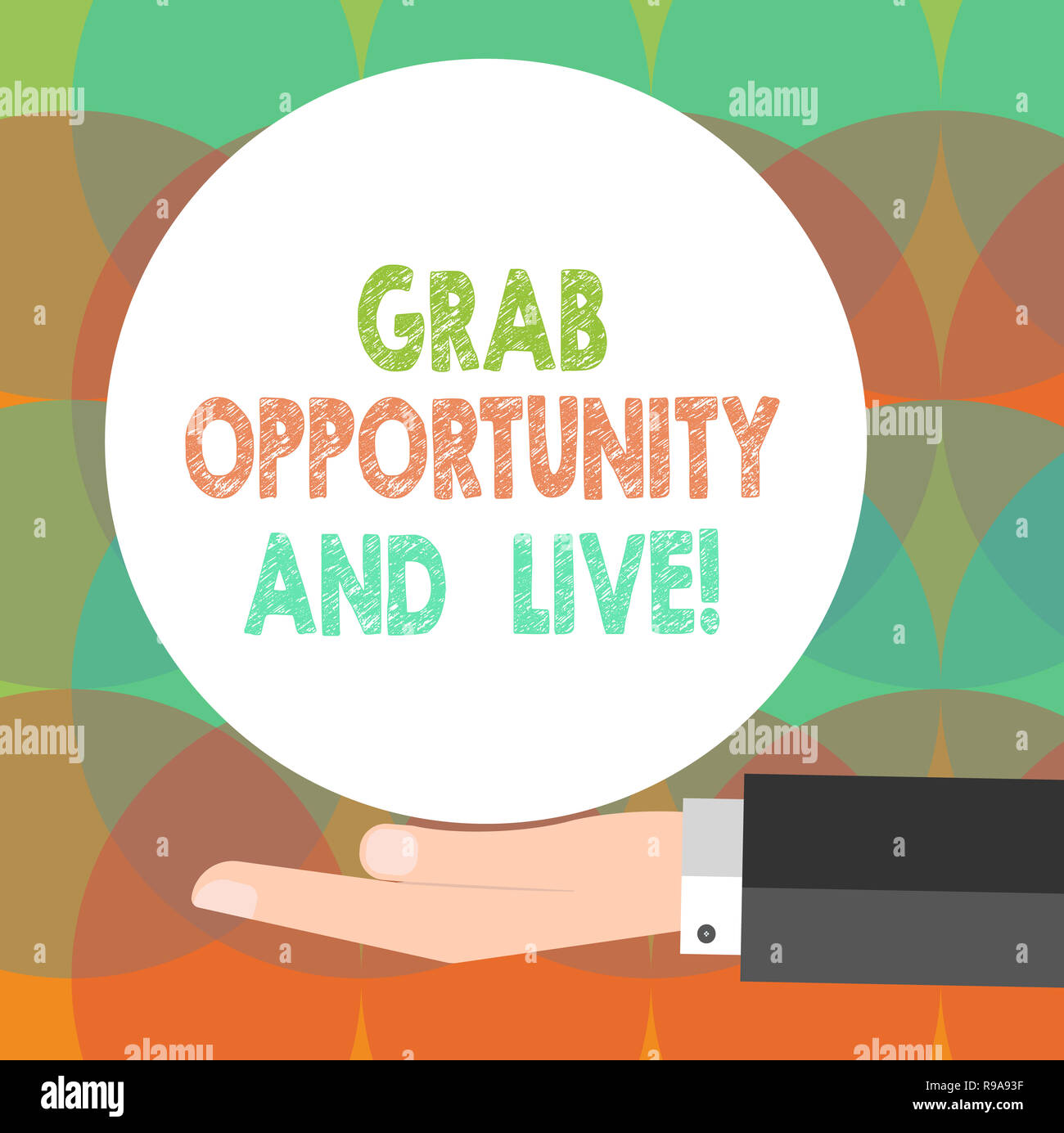 Word writing text Grab Opportunity And Live  Business