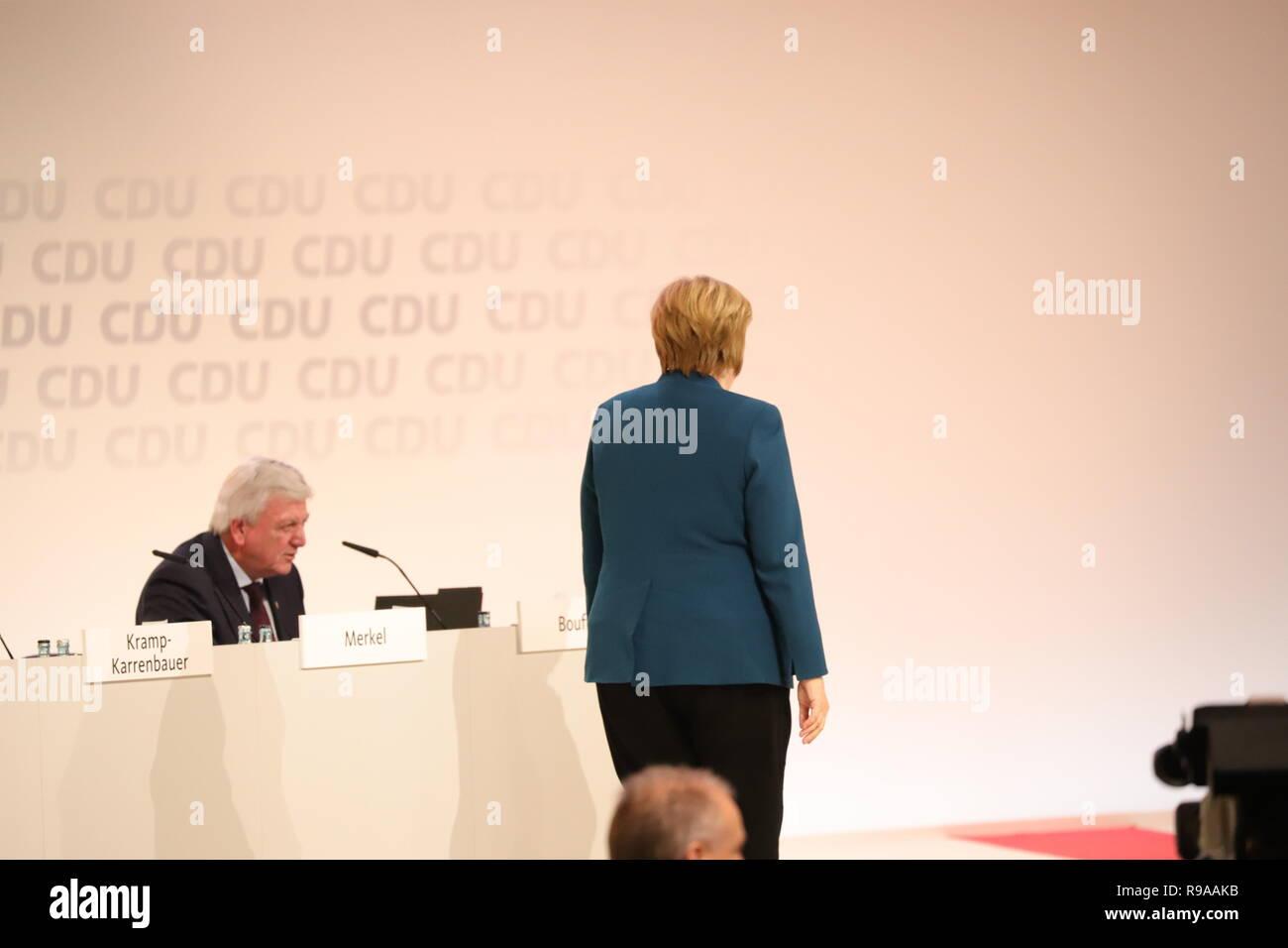 31. CDU-Bundesparteitag in Hamburg:  Angela Merkel geht - Stock Image