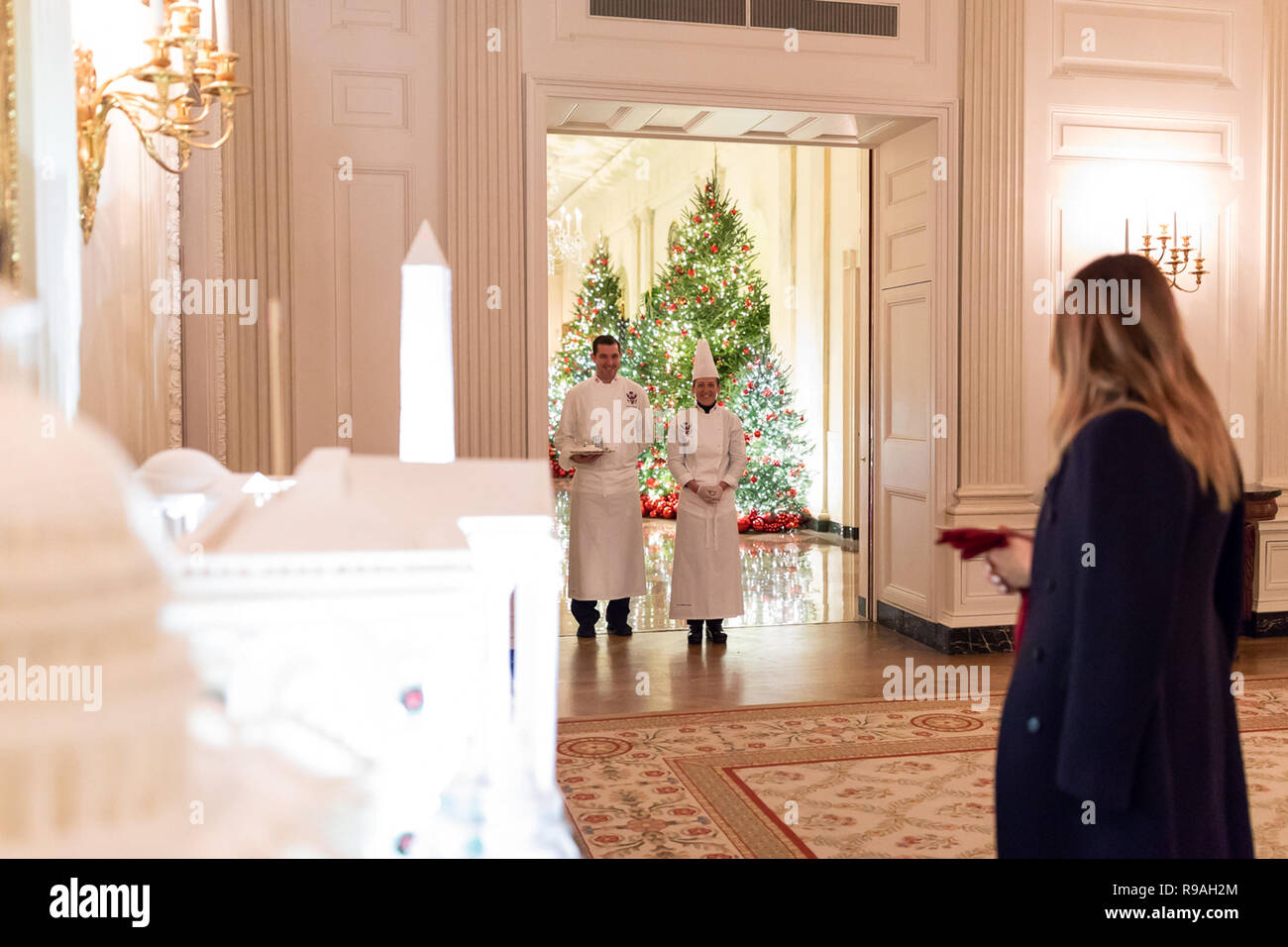 First Lady Melania Trump Joined By White House Pastry Chef