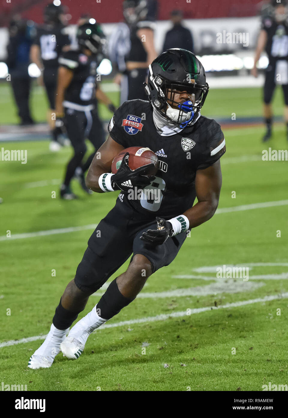 Frisco, TX, USA. 19th Dec, 2018. Ohio University Bobcat receiver Jerome Buckner (8) in action at the NCAA football Frisco Bowl game between the Ohio Bobcats and the San Diego State Aztecs at the Frisco Bowl, in Frisco, TX. (Absolute Complete Photographer & Company Credit: Joe Calomeni/MarinMedia.org/Cal Sport Media) Credit: csm/Alamy Live News - Stock Image