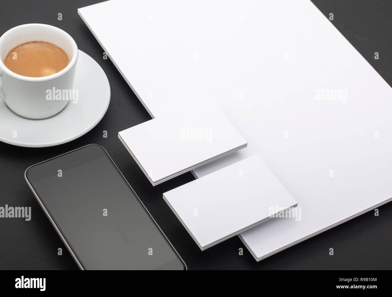 Corporate identity and mobile web design template - Stock Image