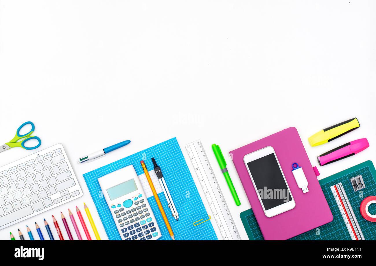 Back To School Background Header Stock Photo Alamy