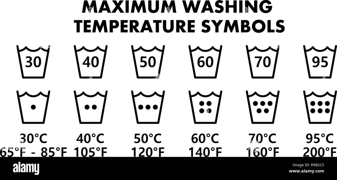 Washing Symbols Stock Photos & Washing Symbols Stock Images
