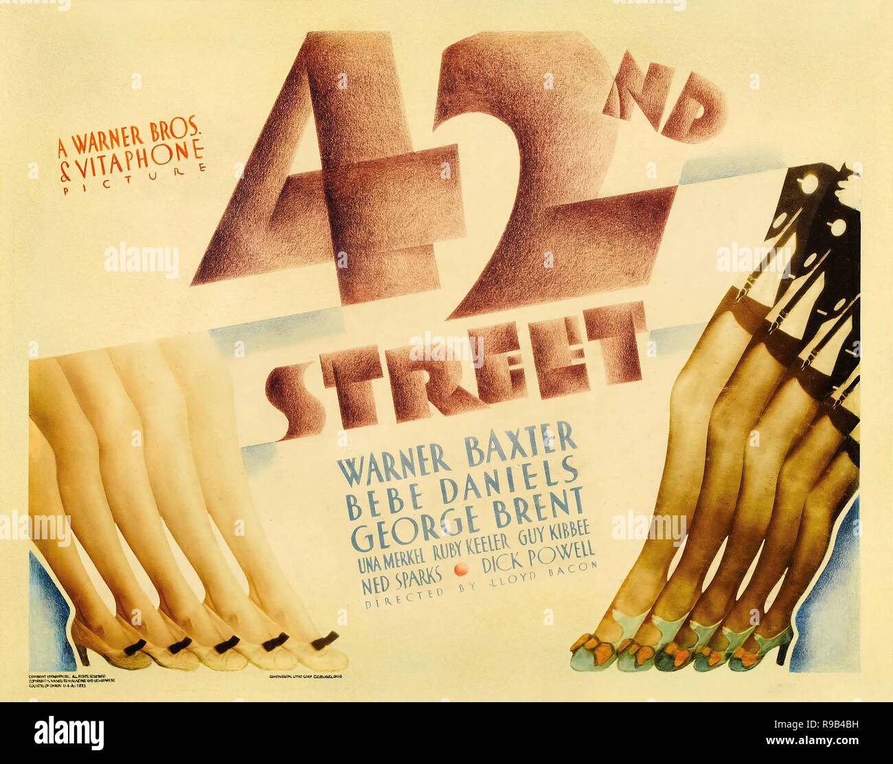 Original film title: 42ND STREET. English title: 42ND STREET. Year: 1933. Director: LLOYD BACON. Credit: WARNER BROTHERS / Album - Stock Image