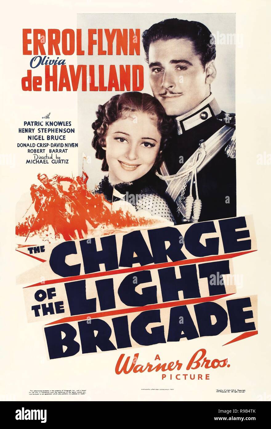 Original film title: THE CHARGE OF THE LIGHT BRIGADE. English title: THE CHARGE OF THE LIGHT BRIGADE. Year: 1936. Director: MICHAEL CURTIZ. Credit: WARNER BROTHERS / Album - Stock Image