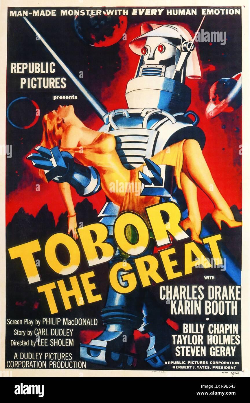 Original film title: TOBOR THE GREAT. English title: TOBOR THE GREAT. Year: 1954. Director: LEE SHOLEM. Credit: REPUBLIC PICTURES / Album - Stock Image
