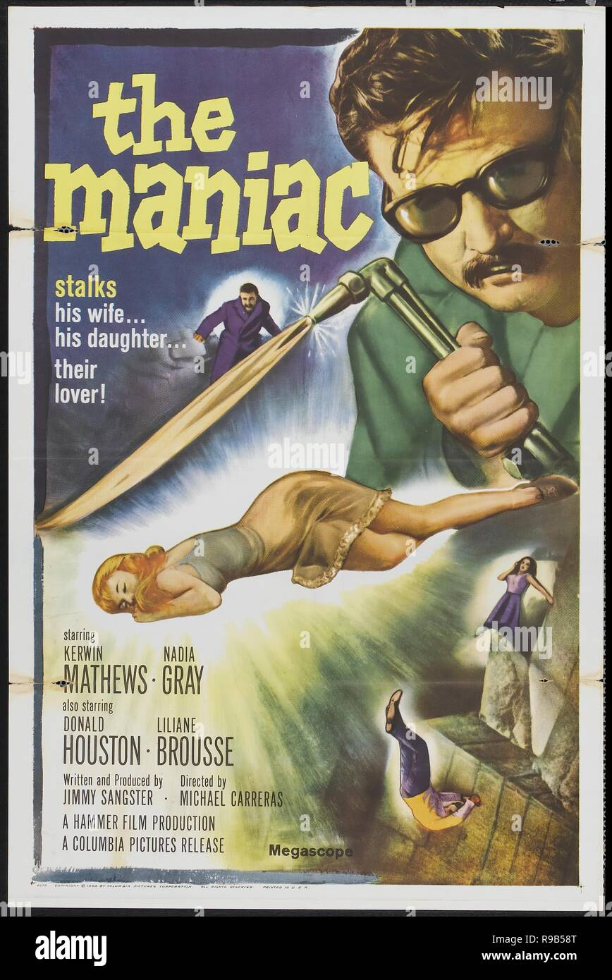 Original film title: MANIAC. English title: MANIAC. Year: 1963. Director: MICHAEL CARRERAS. Credit: COLUMBIA PICTURES / Album - Stock Image