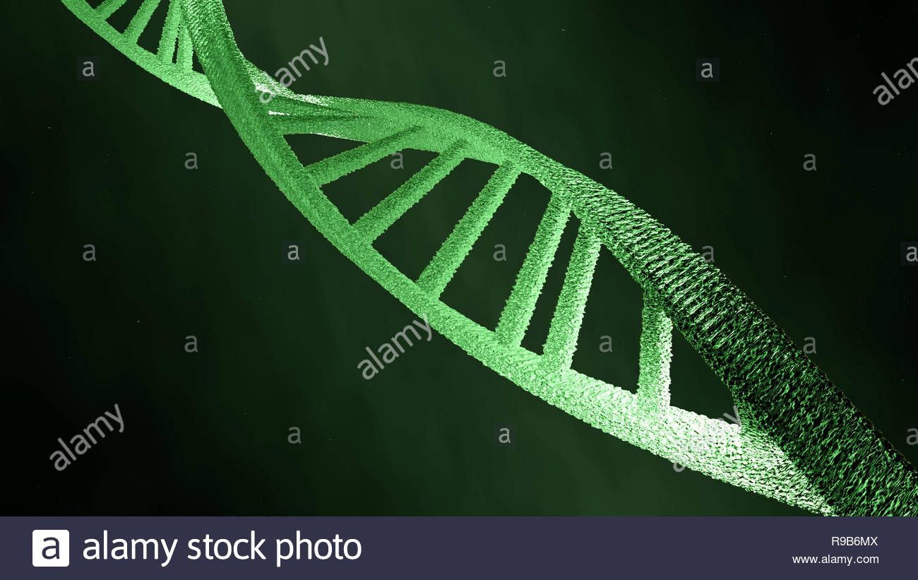 illustration of dns, double helix - Stock Image