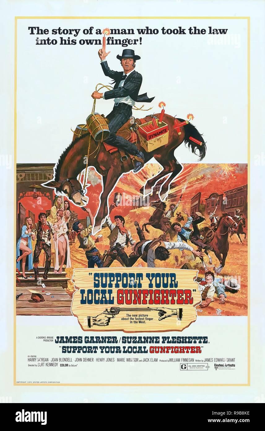 Original film title: SUPPORT YOUR LOCAL SHERIFF!. English title: SUPPORT YOUR LOCAL SHERIFF!. Year: 1969. Director: BURT KENNEDY. Credit: UNITED ARTISTS / Album - Stock Image