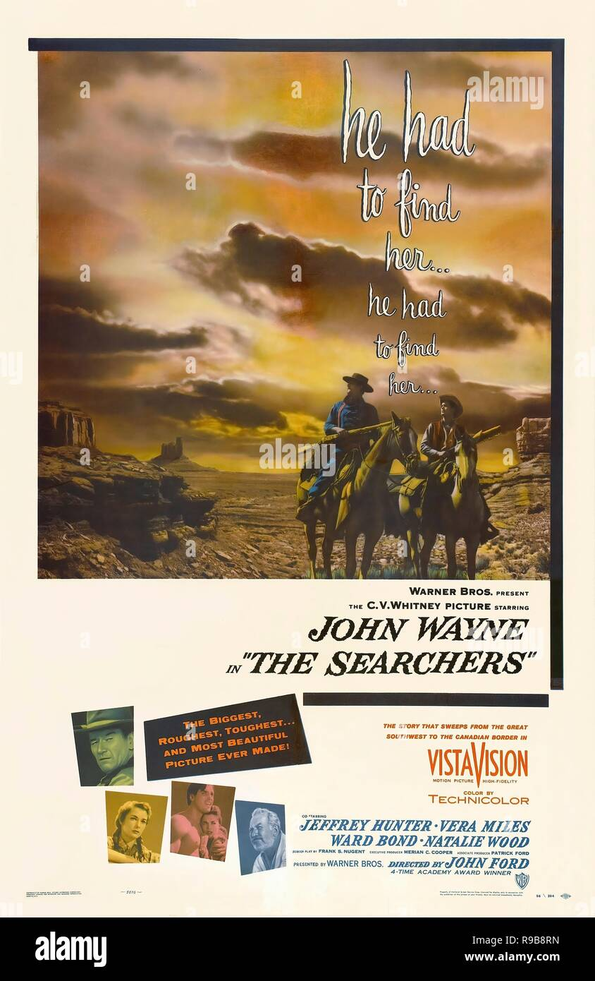 Original film title: THE SEARCHERS. English title: THE SEARCHERS. Year: 1956. Director: JOHN FORD. Credit: WARNER BROTHERS / Album - Stock Image