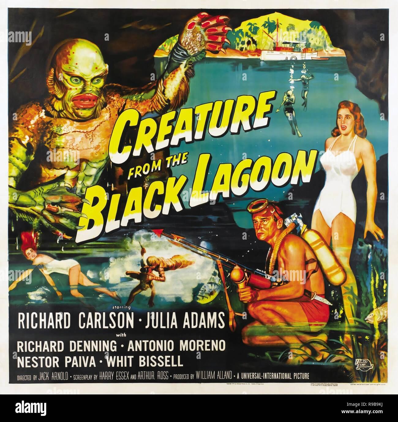 Creature Black Lagoon Poster Stock Photos Creature Black Lagoon
