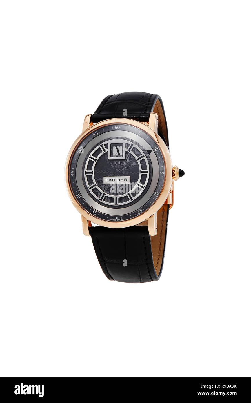Cartier watch - Stock Image