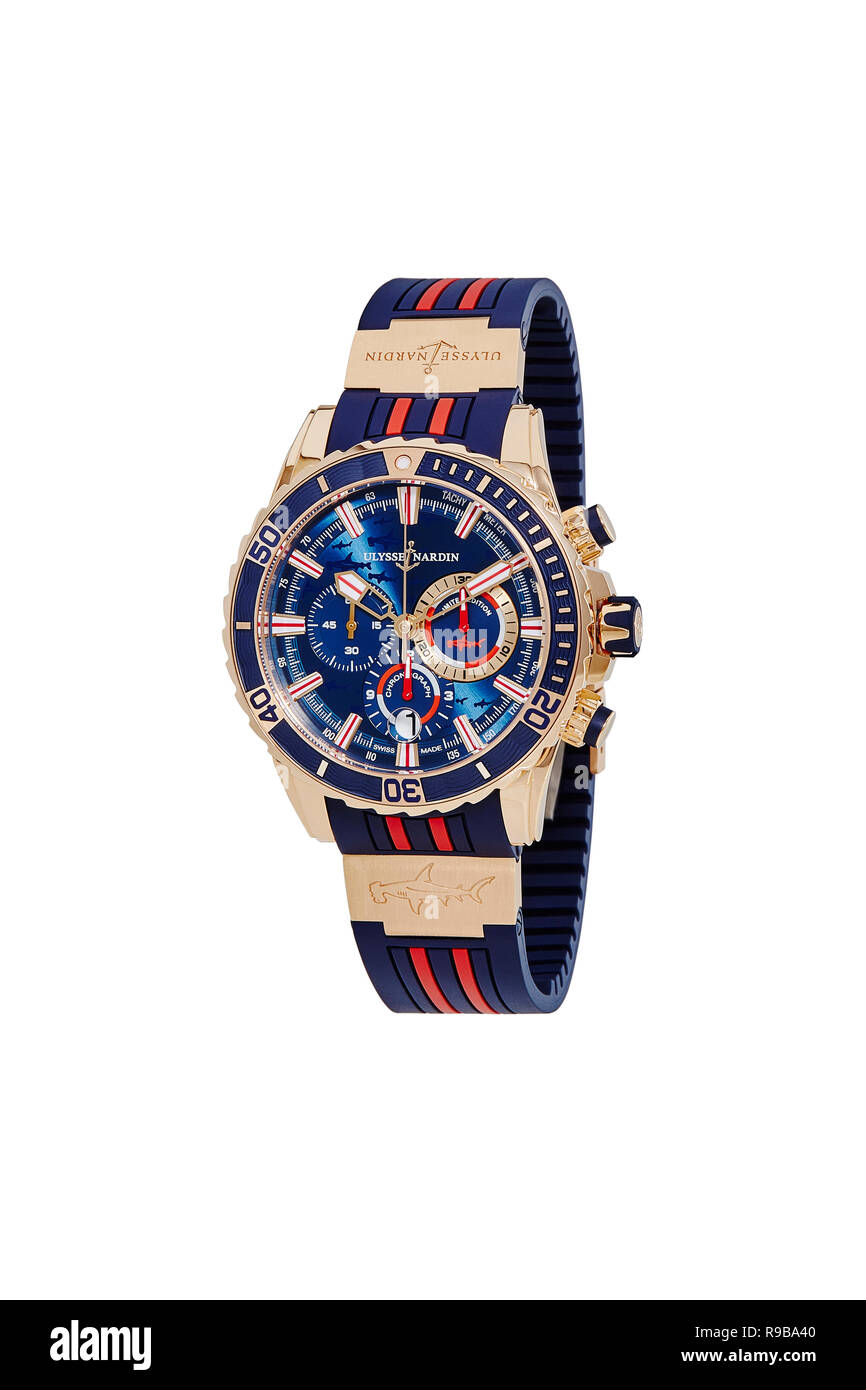 Ulysse Nardin watch - Stock Image