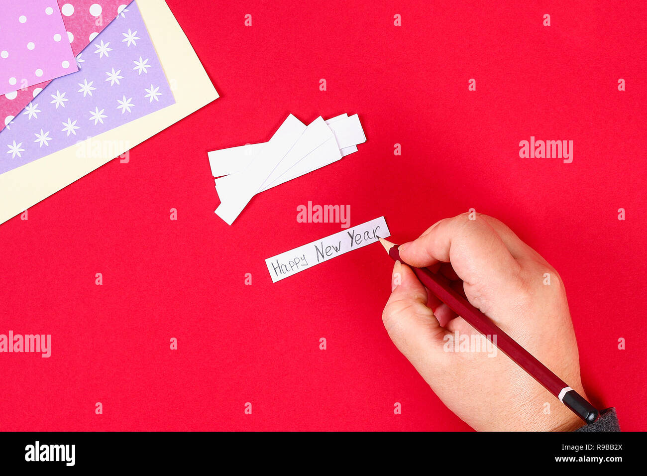 Diy Cookie With Predictions On A Red Background Gift Ideas Decor
