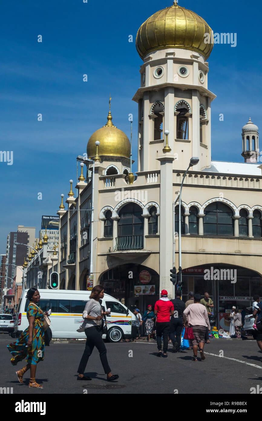 Juma Mosque (Grey Street Mosque), Durban, KwaZulu-Natal,  South Africa, - Stock Image