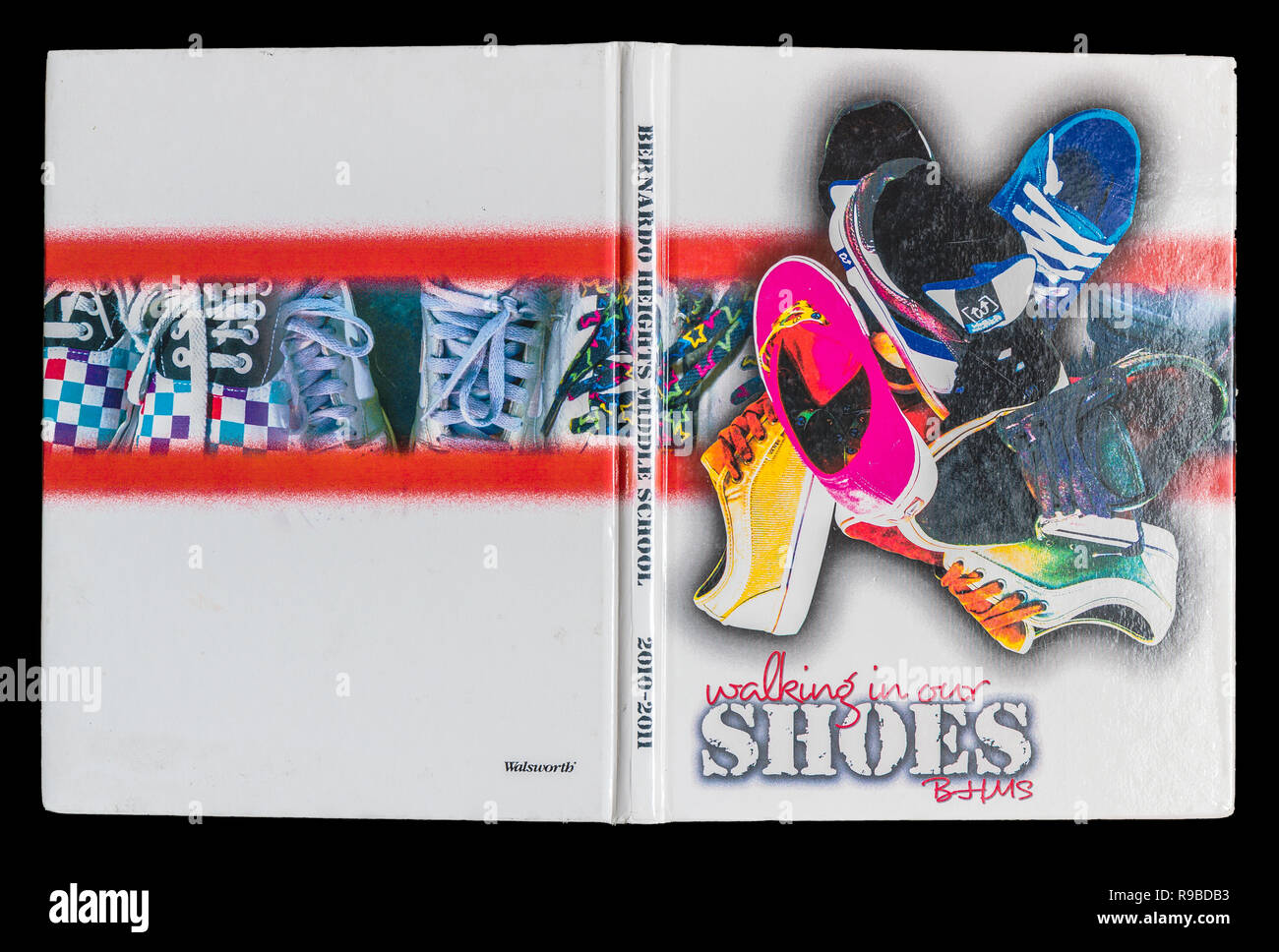 junior high school yearbook - Stock Image