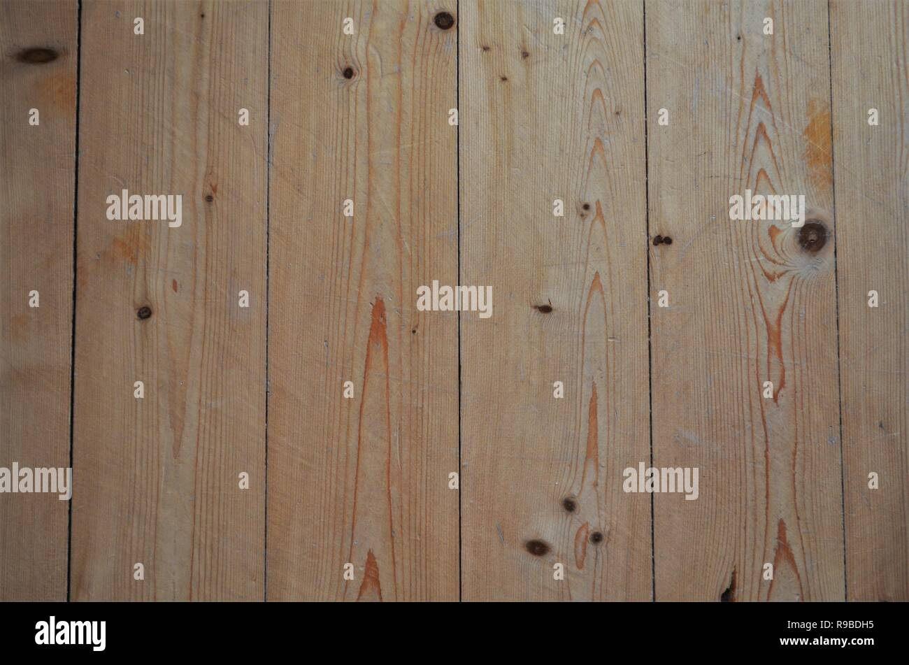 brown wooden planks panels structure - Stock Image