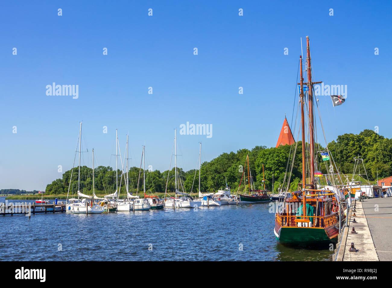 Marina, Island Poel, Germany - Stock Image