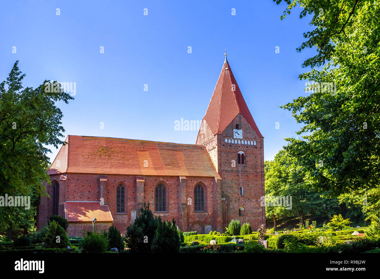 Church, Island Poel, Germany - Stock Image