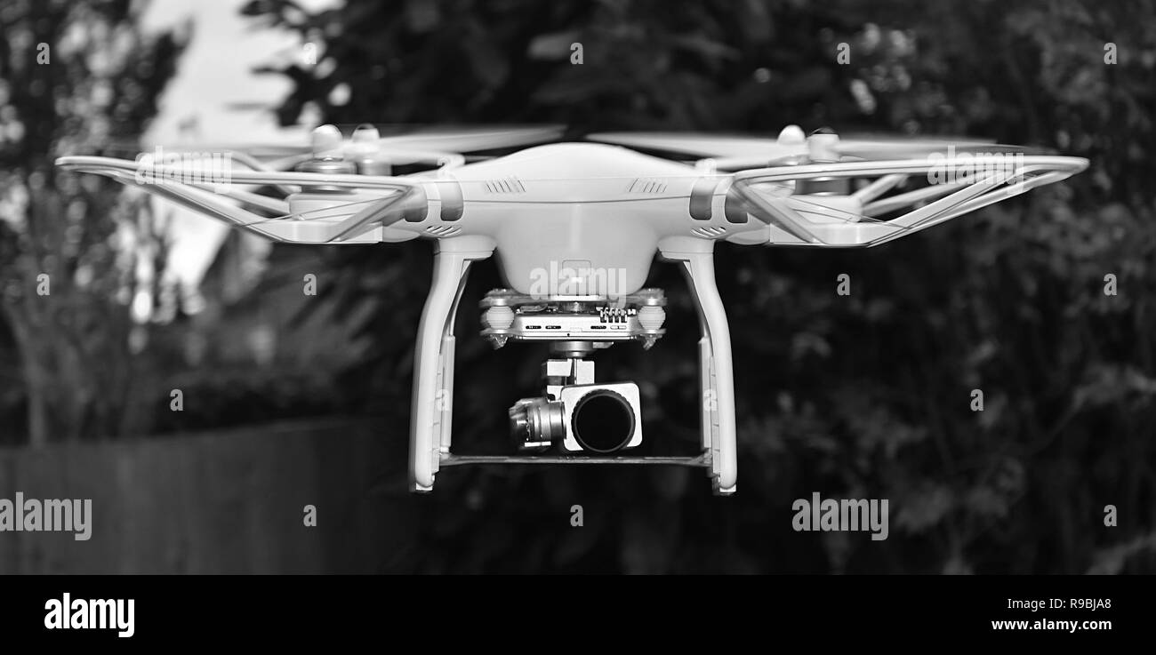 drone, risk to commercial aircraft - Stock Image