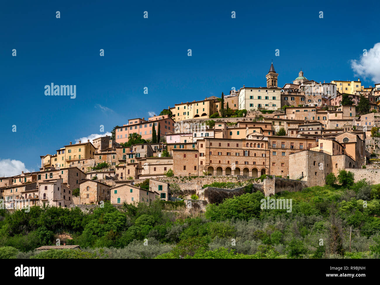Hilltown of Trevi, Umbria, Italy - Stock Image