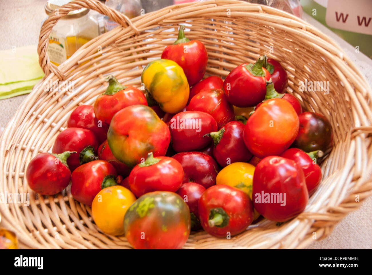 Pepper of Capriglio, Slow Food Presidium. Piedmont - Italy - Stock Image