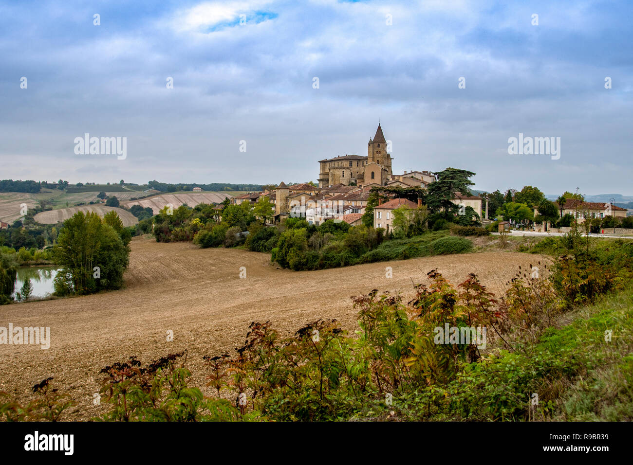 France. Gers (32). Lavardens. Most beautiful village of France - Stock Image
