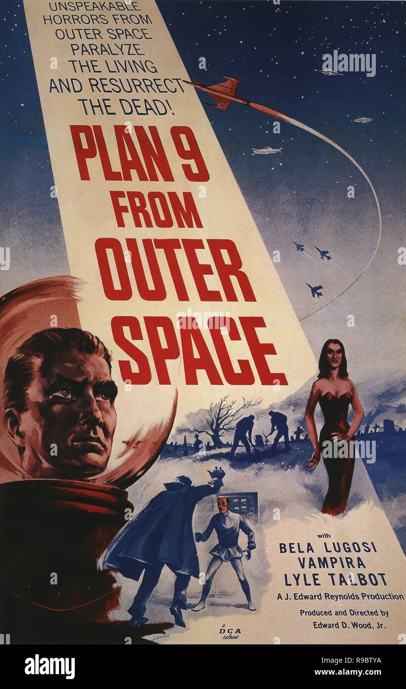 Original film title: PLAN 9 FROM OUTER SPACE. English title: PLAN 9 FROM OUTER SPACE. Year: 1959. Director: ED WOOD. Credit: REYNOLDS PICTURES INC. / Album - Stock Image