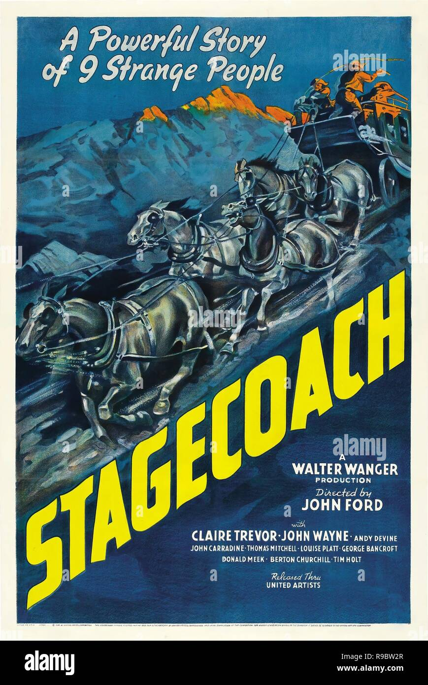 Original film title: STAGECOACH. English title: STAGECOACH. Year: 1939. Director: JOHN FORD. Credit: UNITED ARTISTS / Album Stock Photo