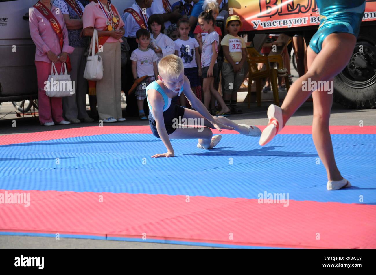 Kovrov Russia 9 August 2014 Sports Holiday Velobum Devoted