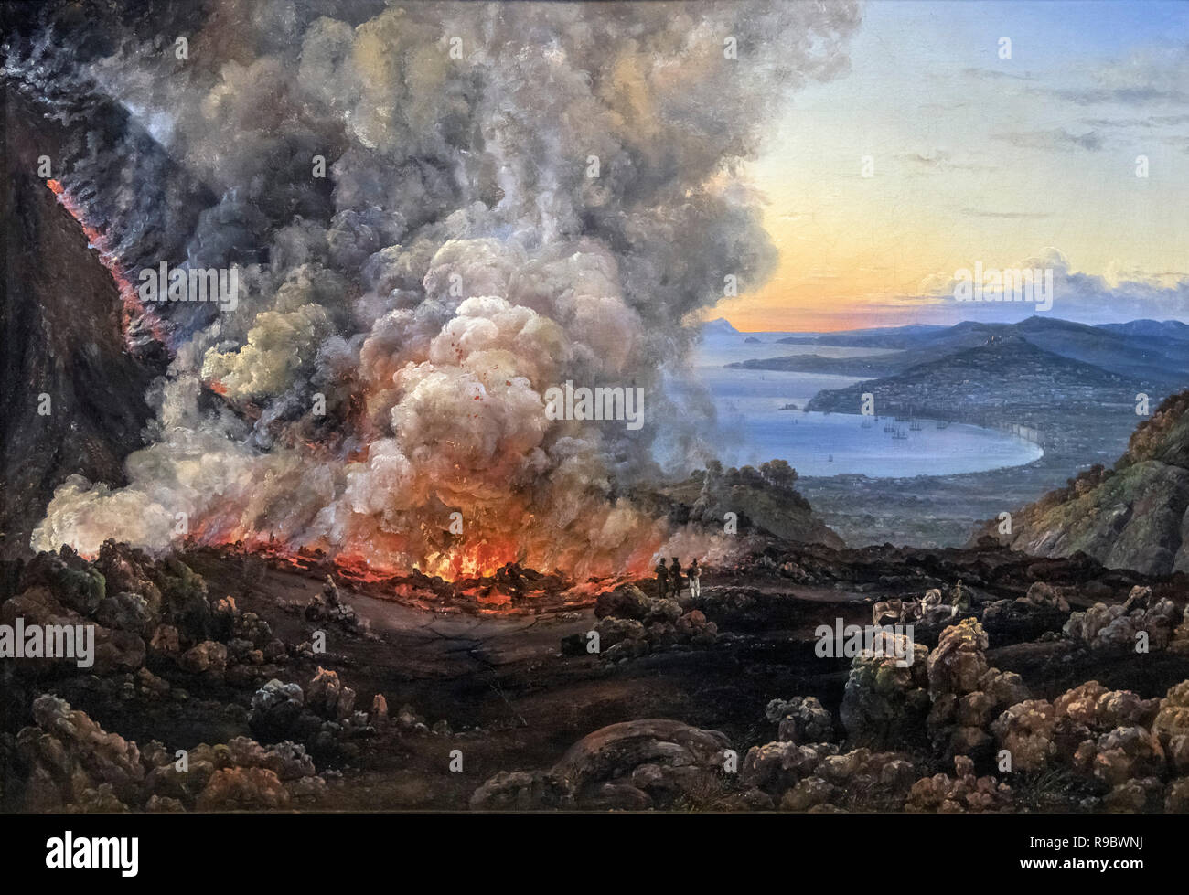 An Eruption of Vesuvius by J C Dahl (Johan Christian Claussen Dahl: 1788-1857), oil on canvas, 1821 - Stock Image