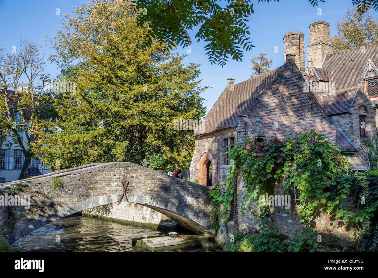 Bruges, Belgium bridge - Stock Image