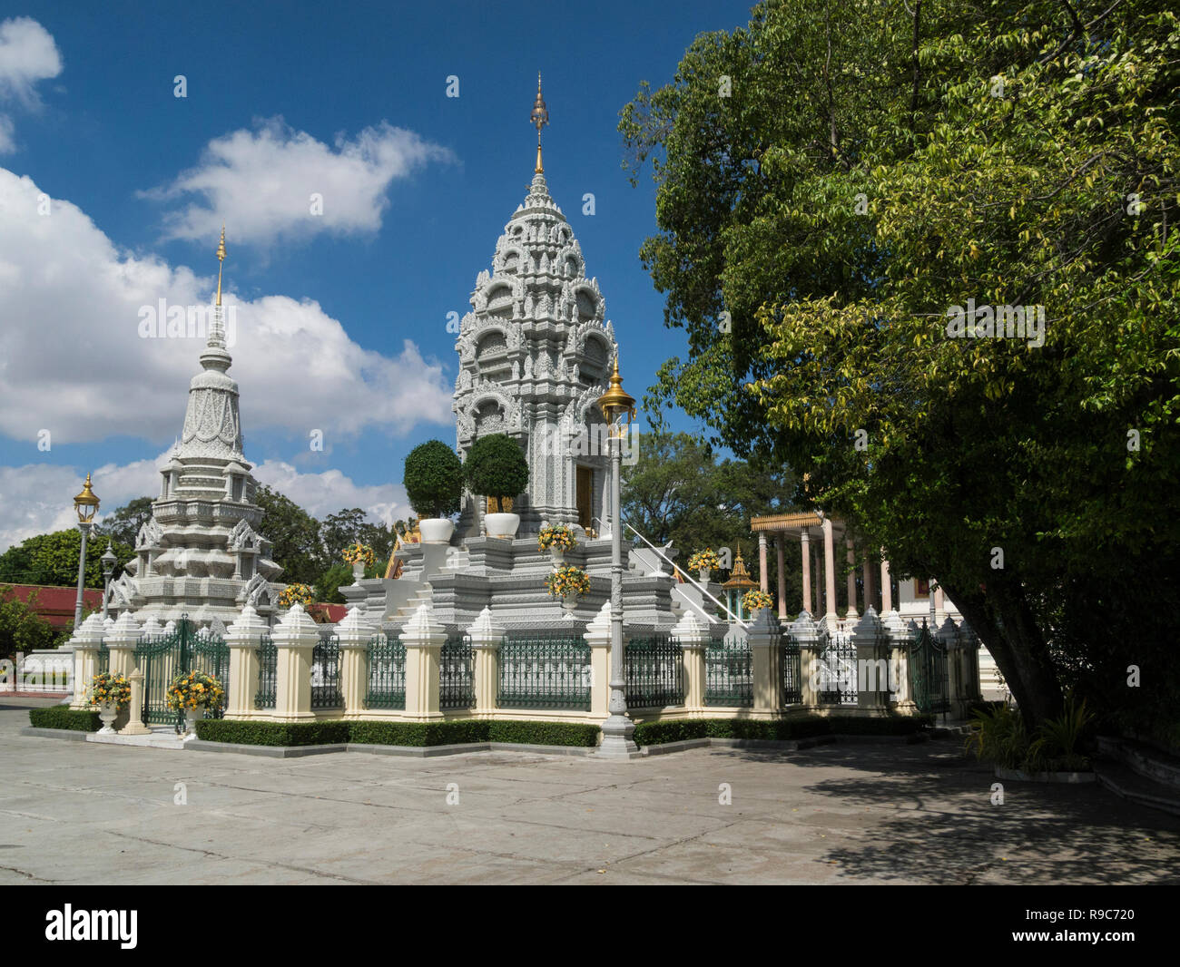 Stupa of Princess Kantha Bopha memorial sanctuary of beloved daughter of former King Sihanouk died at age of 4 of leukemia with  Phnom Penh Cambodia A - Stock Image