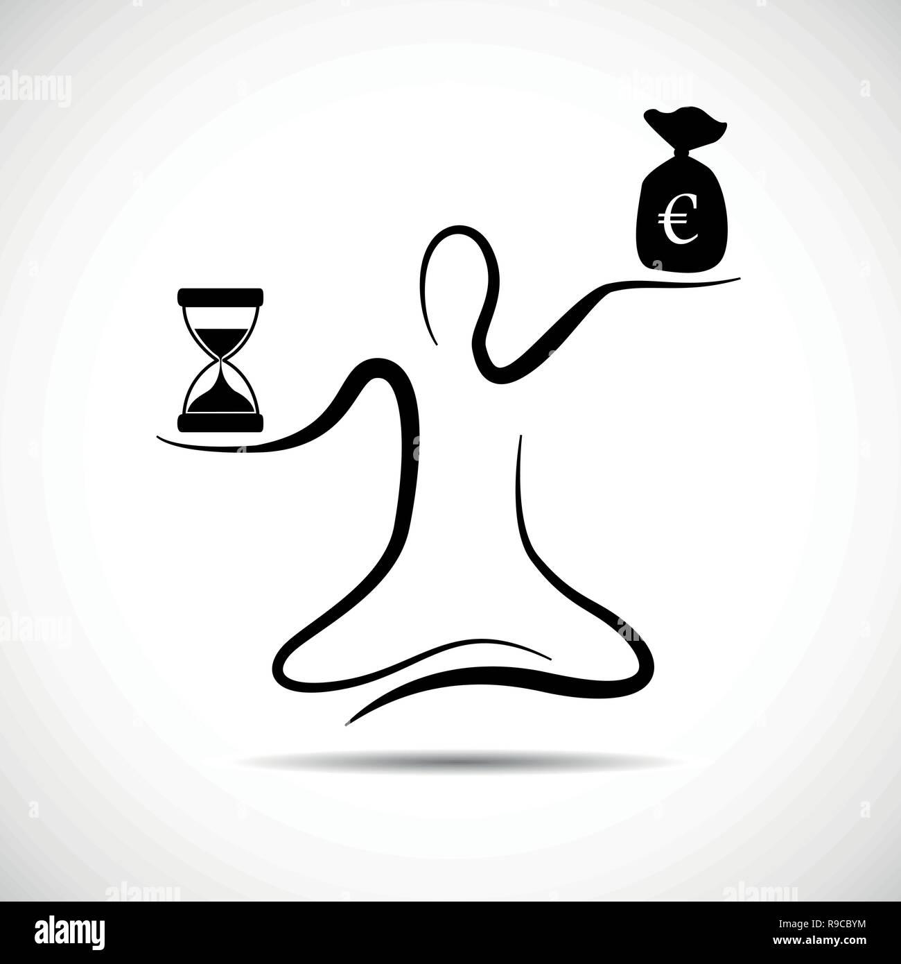 more money less time vector illustration EPS10 - Stock Vector