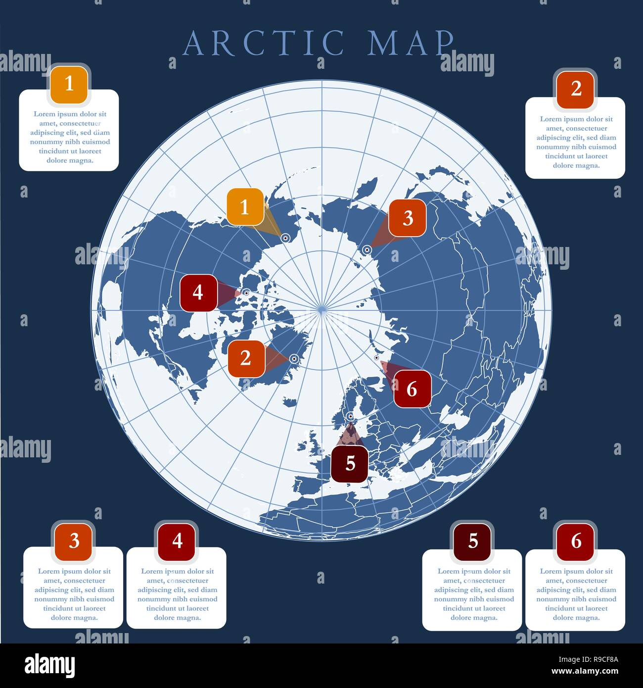 Antarctic Circle Map Stock Photos Antarctic Circle Map Stock