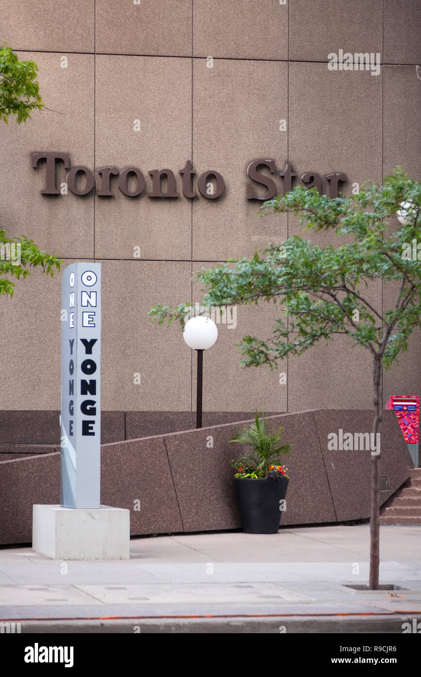 The Toronto Star building (Torstar building) at One Yonge street. City of Toronto, Ontario, Canada. - Stock Image