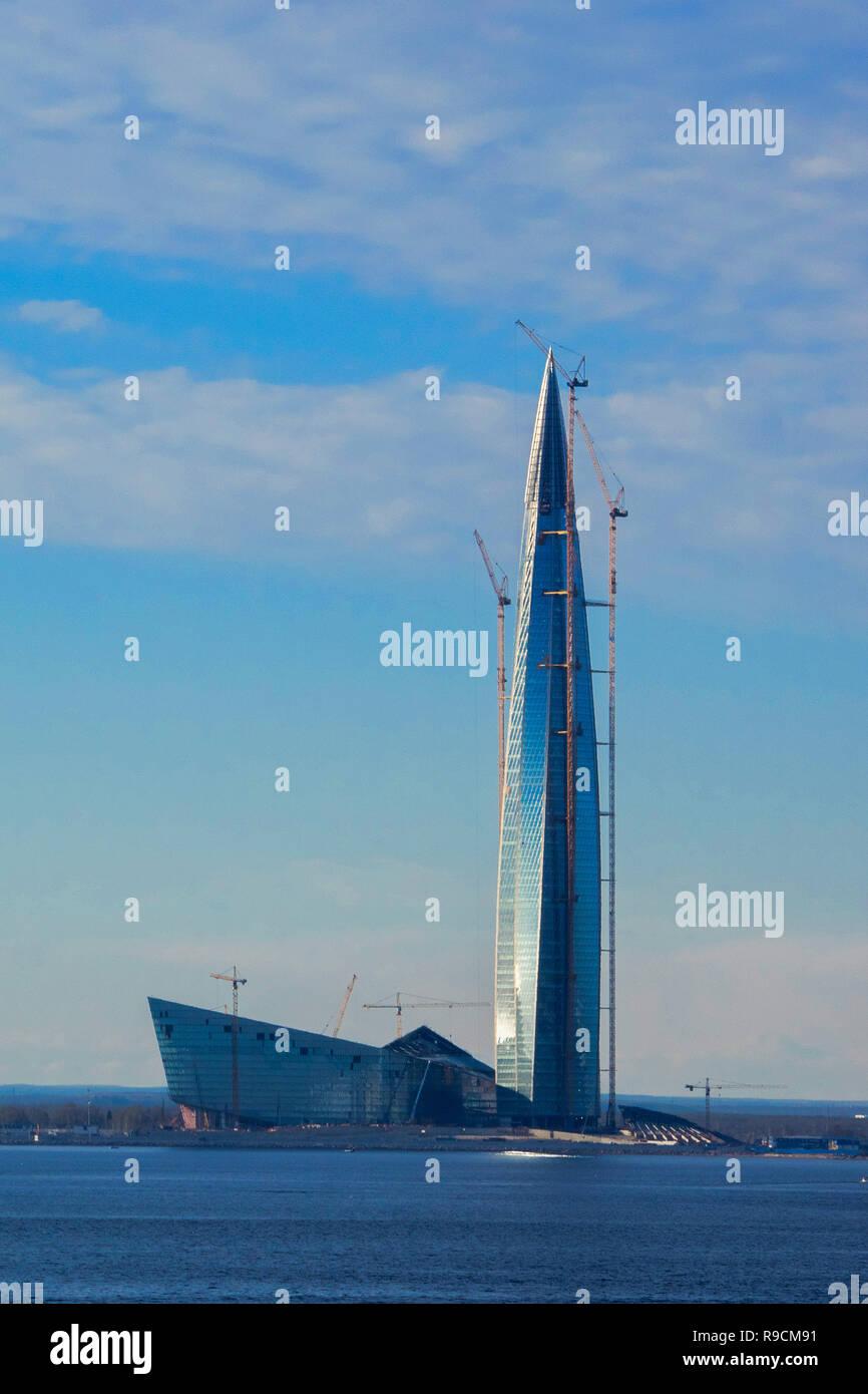 Europe -  St. Petersburg - Gazprom Tower Stock Photo