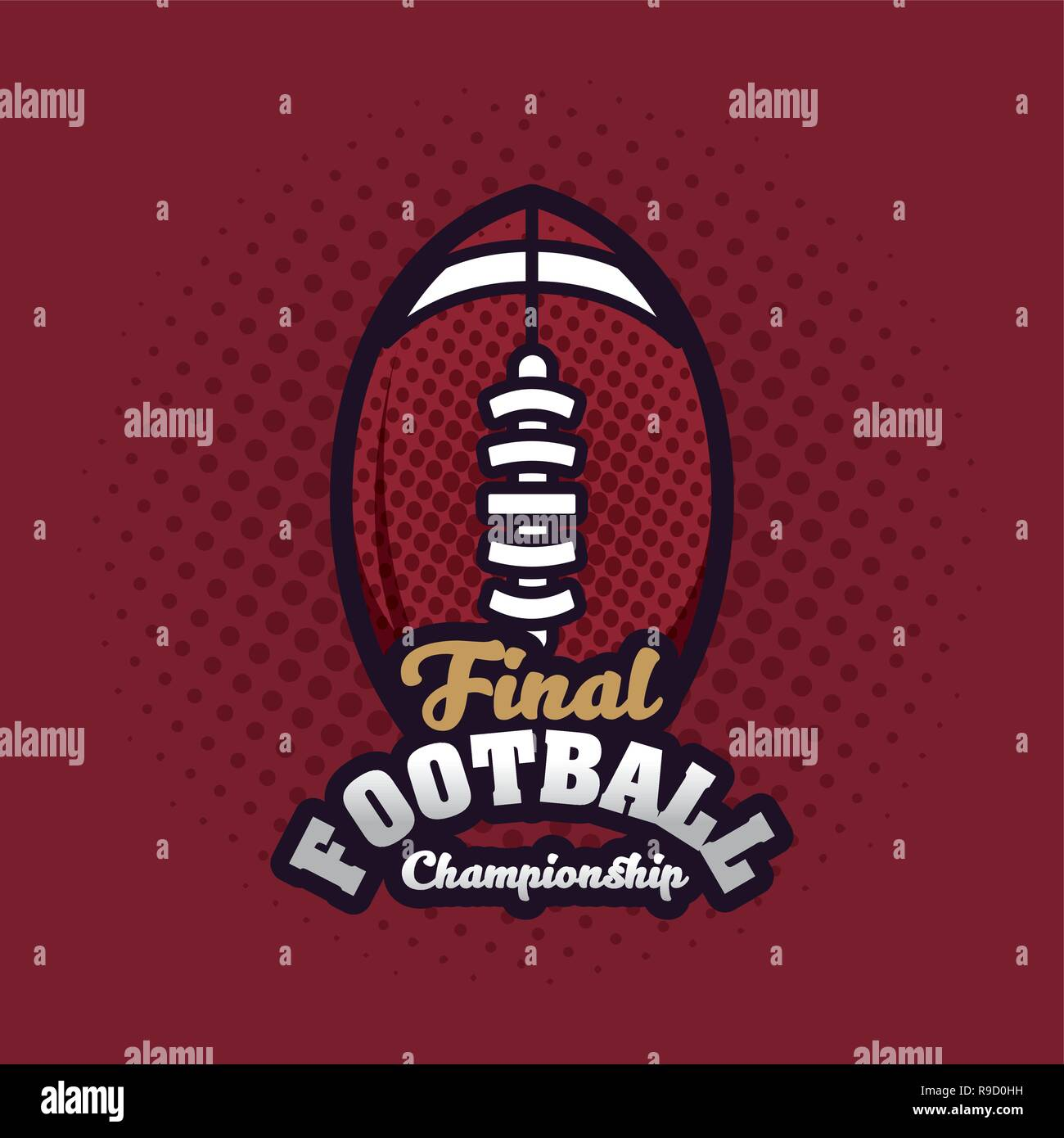 Football championship final - Stock Vector