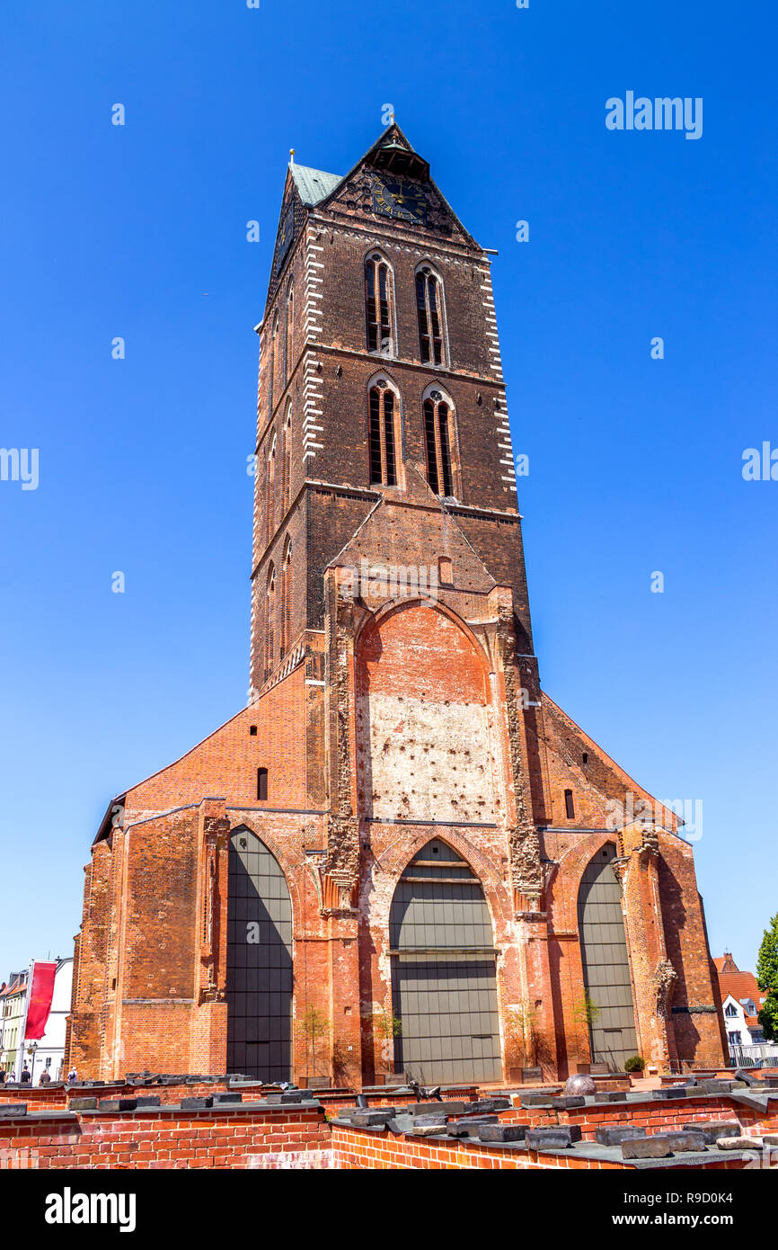 Marien Church, Wismar, Germany - Stock Image