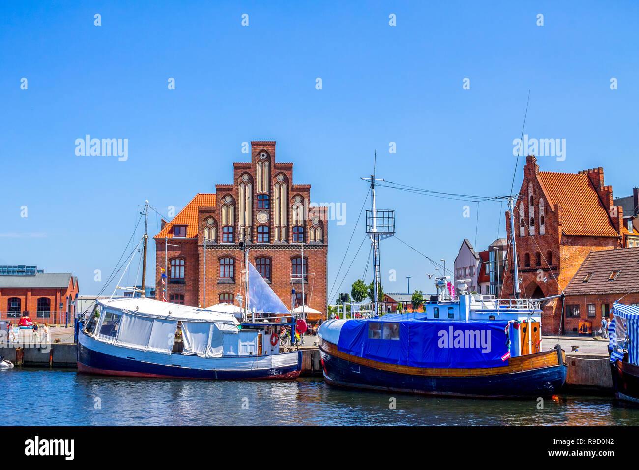 Marina, Wismar, Germany - Stock Image