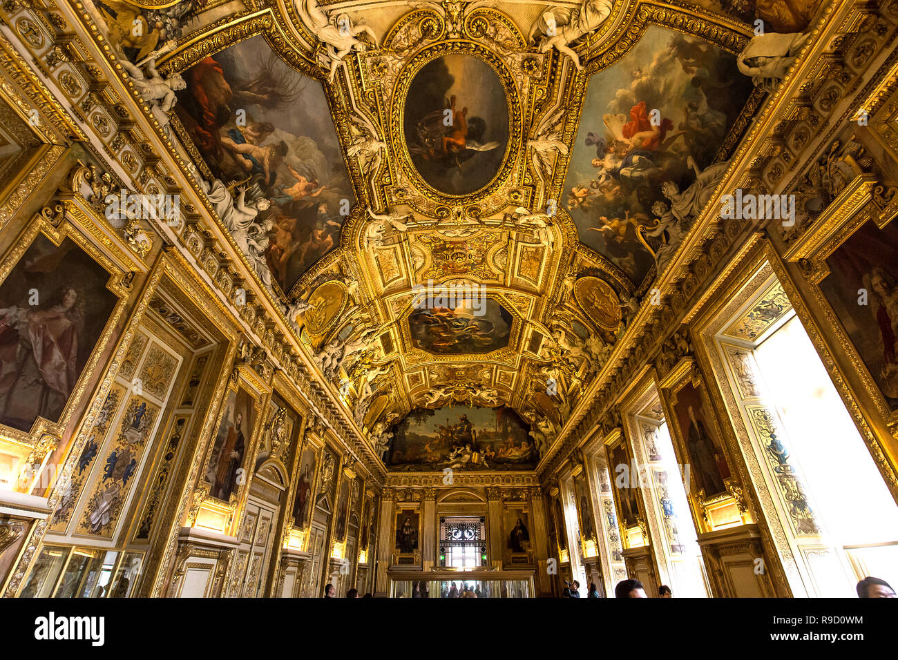 PARIS, FRANCE, MARCH 09, 2017 : architectural details of gallery of Apollon, march 09, 2017, in Paris, France - Stock Image