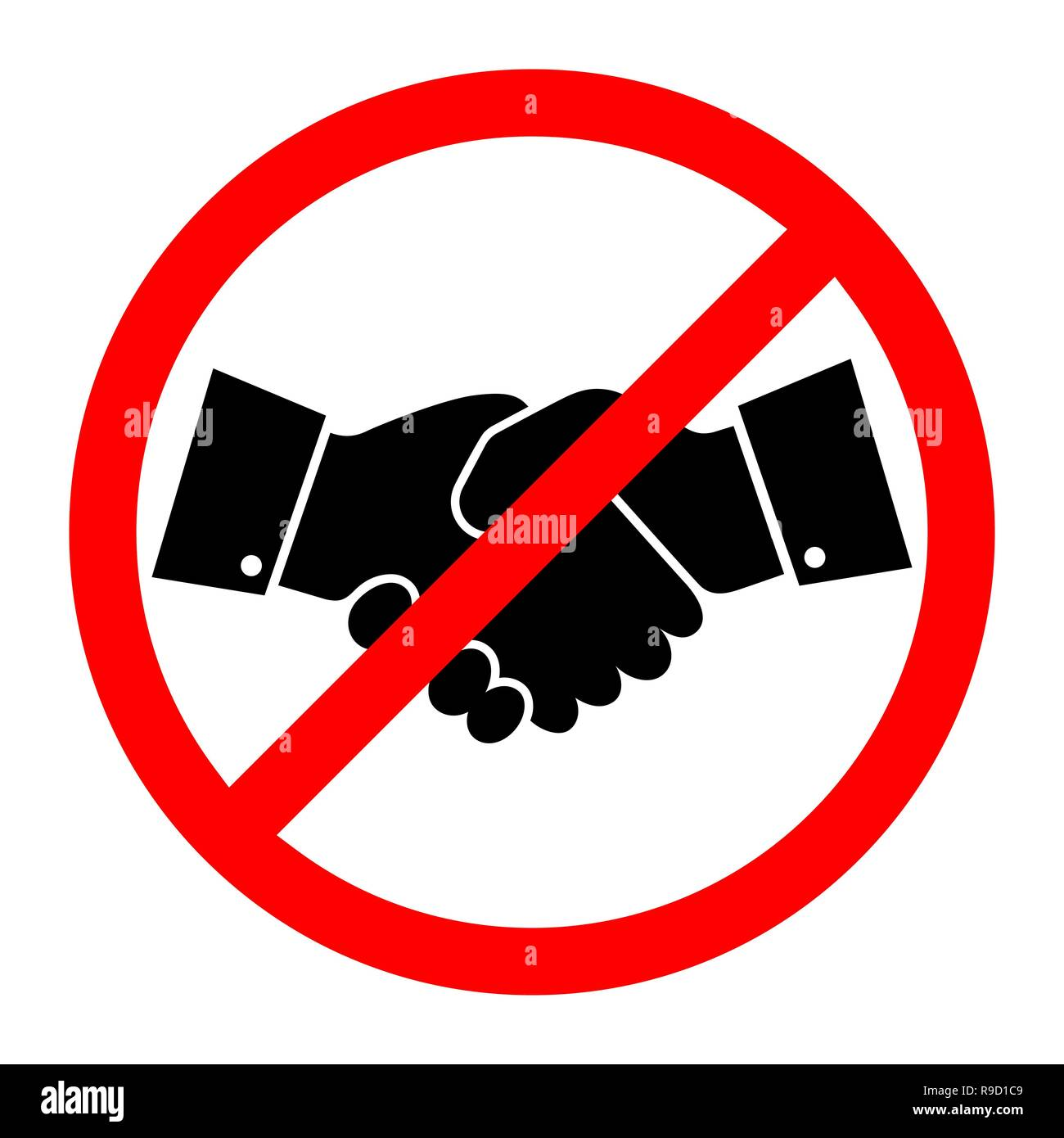 No Handshake Icon Vector Illustration No Dealing No Collaboration Stock Vector Image Art Alamy No hand shake png collections download alot of images for no hand shake download free with high quality for designers. https www alamy com no handshake icon vector illustration no dealing no collaboration image229553193 html